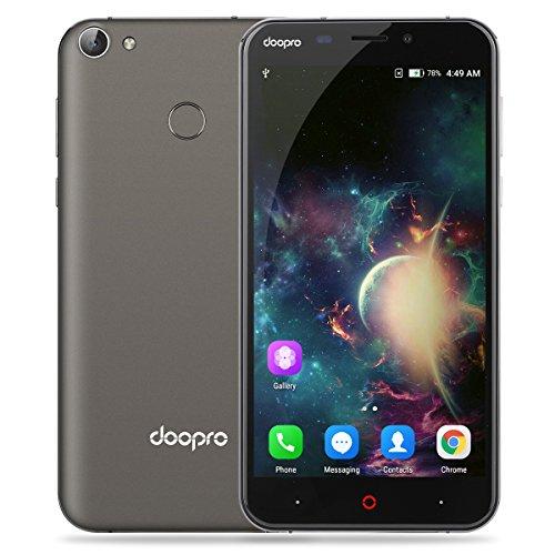DOOPRO P2 Pro Smartphone 4G Android 6.0 (Qualcomm MSM8909 Quad-Core 1.3GHz, 5.5'' IPS Schermo, 2GB RAM 16GB ROM, 2MP+5MP Camera, Fingerprint ID, Dual SIM, Batteria 5200mAh,Super Power Saving Mode)