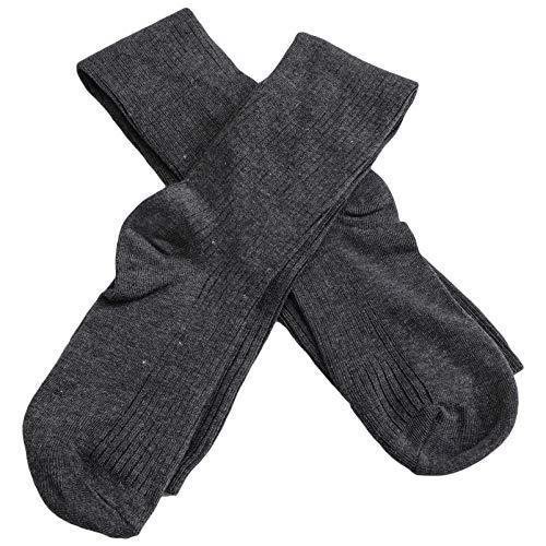 Happyyami Calcetines Altos hasta El Muslo para Mujer Crochet de Punto por Encima de La Rodilla Medias de Estilo Japonés Calcetines Cálidos de Invierno Calentadores de Piernas para Mujeres Y