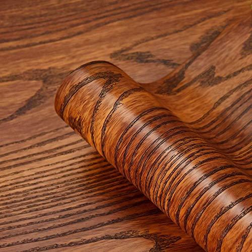 Möbelfolie Selbstklebende Braun Holz 40cmX2m Wasserdicht Klebefolie für Möbel Dekofolie Tapeten Folie Küche PVC Wand Aufkleber Vinyl Folie Schlafzimmer Schränke