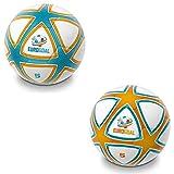 Mondo Toys 13857 - Balón de Fútbol Costura EUROGOAL Star - Talla 5 - 400 gr - Color Naranja/Blanco/Azul