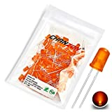 Chanzon 100 pcs 5mm Orange Diffused LED Diode Lights (Colored Lens Round DC 2V 20mA) Light...