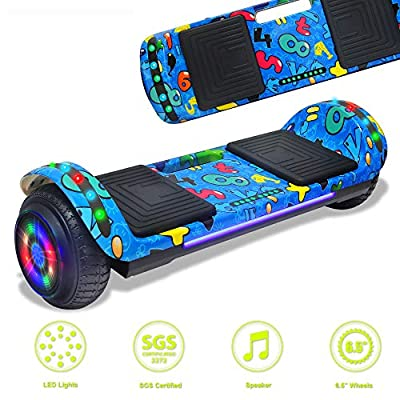 DOC Newest Design Generation Electric Hoverboard Dual Motors Two Wheels Smart self Balancing Scooter with Built in Speaker LED Lights for Gift (Image 2)