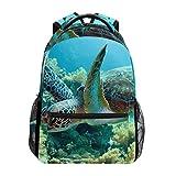 <span class='highlight'><span class='highlight'>COOSUN</span></span> Green Sea Turtle Casual Backpack School Bag Travel Daypack