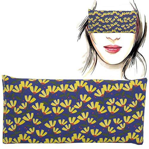 Almohada para los ojos 'Yelow Flowers' | Semillas de Lavanda y arroz | Yoga, Meditación, Relajación, descanso de ojos...