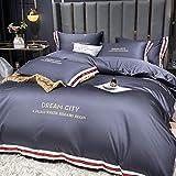 juego de funda nórdica 260x240,La seda de lavado de agua de verano es un juego de cama de lujo ligero en una sola cama de cuatro piezas-L_1,8 m la cama (4 piezas) [Adecuado para el núcleo 200x230cm]