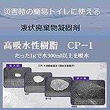 高吸水性樹脂4kg(簡易トイレの吸水材、流動性廃棄物固化に最適:1gで水300ml以上を吸水)