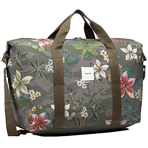 Desigual Woven Luggage, Sac Shoulder Femme, Vert, Taille Unique