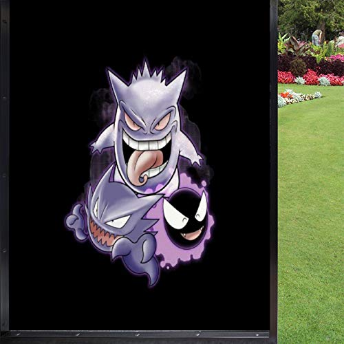 Sweet Dreams Ghastly Haunter Gengar Monster of The Pocket Privacy Window Frosted Sticker, Window electrostatic Frosted Sticker, Glass Window Film Home Decoration Sticker 17.7x23.6 inches