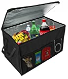 Insulated Car Console Organizer By Lebogner - X-Large Vacation Trunk Cooler Box For Hot Or Cold Food...