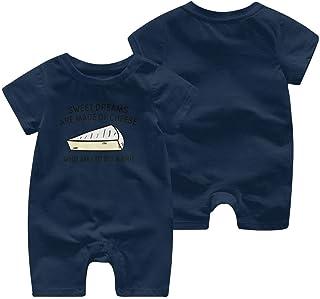 Hoobart Wer bin ich, um einen Brie Baby Kurzarm Jumpsuit Unisex Baby Kletterkleidung Bodysuits Strampler Kurzarm Light Onesies Schwarz