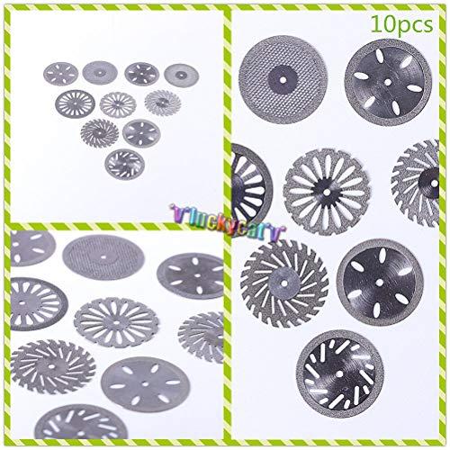 Christzo Double Side 10 x Dental Diamond Polishing Wheel Saw Disc Cutter Rotary Tool