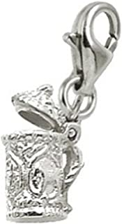 Stein Charm With Lobster Claw Clasp, Charms for Bracelets and Necklaces