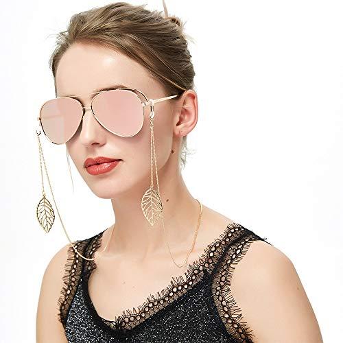 QERNTPEY Eyewear Retainer Womens Sunglasses Chain Cords Eyeglass Strap Neck Cord Glasses Chain Non-Slip Anti-Lost Chain Multi-Function (Color : Gold, Size : 93cm)