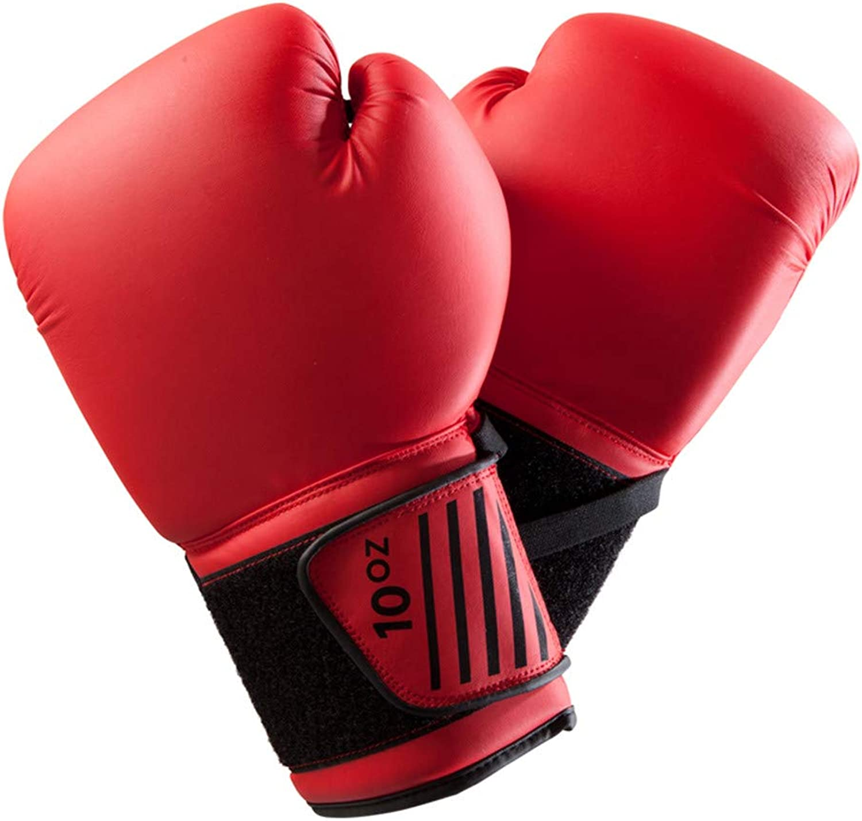Boxhandschuhe Muay Thai Martial Arts Sanda Boxsack Handschuhe Trainingskampfrot10Oz B07NY91NPK  Jahresendverkauf