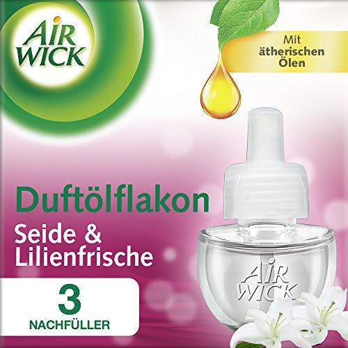 Air Wick Duftölflakon Nachfüller, Seide & Lilienfrische, 3er Pack (3 x 19 ml)