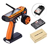 HOBBYMATE Flysky RC FS-GT3C Remote Controller, Radio Controller 3 Channel Radio Transmitter & FS-GR3E Failsafe Receiver - for Rc Car, Rc Truck, Rc Boat