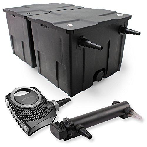 SunSun 2-Kammer Filter Set 60000l 24W UVC 3er Teich Klärer NEO8000 70W Pumpe