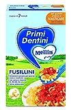 Mellin Primi Dentini Pasta Fusillini, con Farina di Grano Tenero, 12 Confezioni da 280 gr
