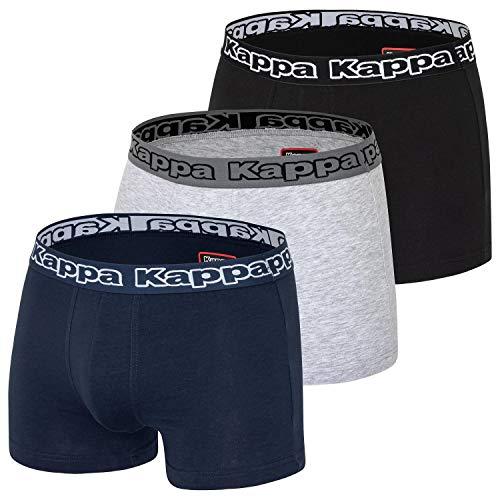 Kappa Herren Boxershorts Zoro 3er Pack 708104 Schwarz/Dunkelblau/Grau XXXL