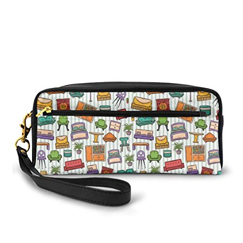 Pencil Case Pen Bag Pouch Stationary,Various Home Interior Elements Armchair Table Mirror...