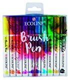 Royal Talens Ecoline Liquid Watercolor Brush Pen, Set of 10 Colors (11509002),Multicolor
