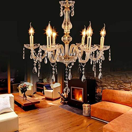 Samger Lujoso Araña de 6 brazos E14 Colgante Lámpara Vaso de cristal...