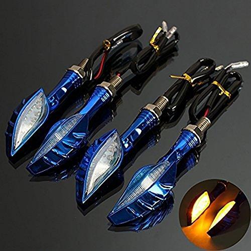 Katur 4 x Universal-Motorrad-LED-Totenkopf-Blinkerleuchte