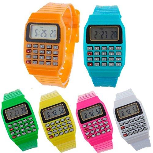 DISOK - Reloj Calculadora (Precio Unitario) - Relojes Infantiles, Niños. Regalos, Recuerdos y Detalles para Cumpleaños, Comuniones, Originales Y Prácticos para Niños
