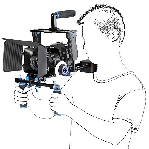JIASHU Film Film Video Making System Kit, professionelle DSLR Rig Schulter Videokamera Stabilisator Unterstützung Käfig/Matte Box/Follow Focus