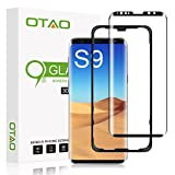 Galaxy S9 Screen Protector Tempered Glass, [Update Version] OTAO 3D Curved Dot Matrix [Full Screen Coverage] Glass Screen Protector(5.8') with Installation Tray [Case Friendly] for Samsung Galaxy S9