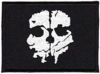 Army Tactical Morale Patch Biker Call of Duty Ghost Skull Silver-Black Color