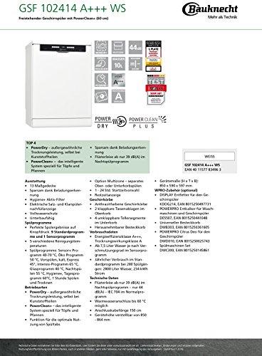 Bauknecht GSF 102414 WS Geschirrspüler - 5