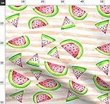 Wasserfarben, Wassermelone, Pfirsich, Sommer, Obst,