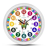 ONETIME Reloj de Pared para niños Colorido con diseño de...