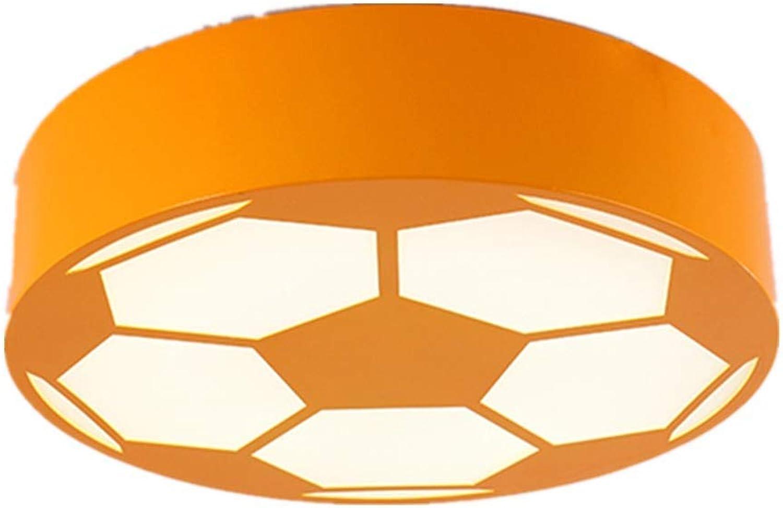 LCTCXD Kreative Schlafzimmer Lampe Früherziehung Runde Warme Kindergarten Beleuchtung Kinderzimmer Home Coffee Bar Club 45 cm (Farbe   Orange, gre   Weies Licht)