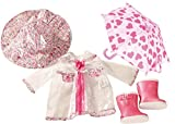 Götz 3402190 Kombination Rainy Day - Aprilwetter Puppenbekleidung Gr. XL - 5-teiliges Bekleidungs-...