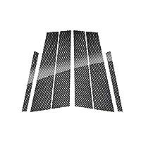 メルセデスベンツGLA X156 13 18 GLC X253 2016 2017 2018、カースタイリングウィンドウ柱装飾ステッカートリムカーボンファイバー
