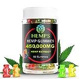 Premium Hemp Gummy Bears , 60 Count, 450,000mg High Potency Hemp Oil, Natural Calm, Sleep Aid, Stress, Pain and Anxiety Relief, Inflammation, Nausea, Pure Naturally Occurring Hemp Oil Organic
