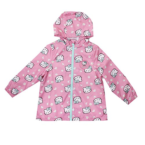Hello Kitty Hearts-Kids Zip Jacket Abrigo, Rosa (Pink), 6-7 Años para Niñas
