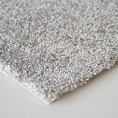 Steffensmeier Teppichboden Margate Meterware | Auslegware für Kinderzimmer Wohnzimmer Schlafzimmer | Grau, Größe: 400x500 cm