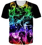 Goodstoworld para Mujer para Hombre 3D Camiseta Impresa de Verano de Colores Personalizada Casual de Manga Corta Camiseta T-Tops Pequeño