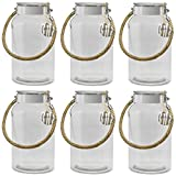 Dekovita frasco de almacenamiento Juego de 6, 5l a:30/d:16/a: 10,6cm linterna de jardín frasco de cristal vidrio decorativo linterna jarrón