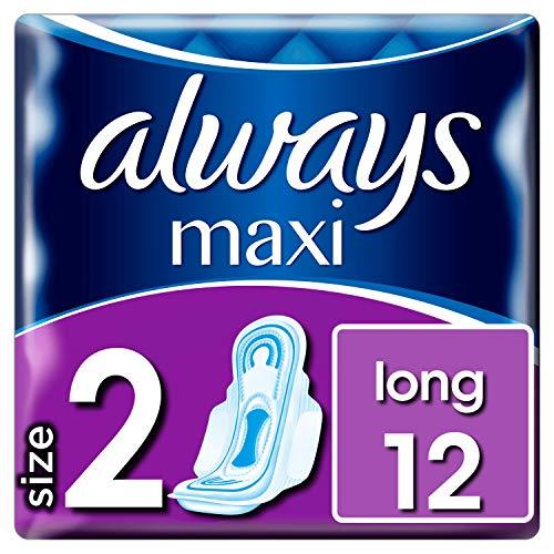 Always Maxi Long Binden Mit Flügeln, Größe2, 12Stück