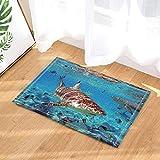 SRJ2018 Ocean Whale Animal Printed Floor Mat Floor Mat Alfombra Alfombra de baño Alfombra de Ducha