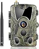 SUNTEKCAM 4G Cámara de Caza Nocturna 20MP 1080P Transmisión de red celular con Diseño Impermeable IP66 Cámara de Fototrampeo con Detección cámara de juego 120° detección