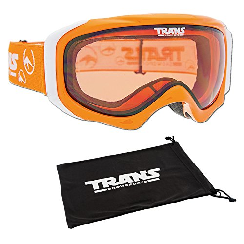 Unbekannt Trans Snowboard Ski Brille Rider PRO Men orange-Shine 2015