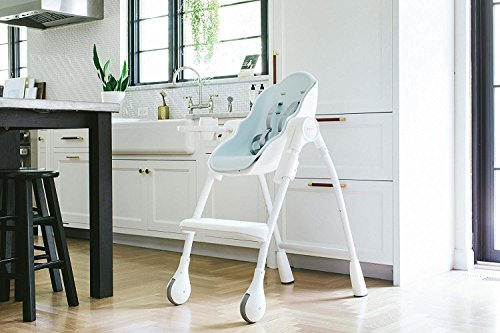 Oribel Cocoon 3-Stage Adjustable, Easy-Clean High Chair + Baby Recliner (Blue)