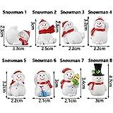Weihnachtsaccessoire aus Kunstharz, für Puppenhaus, Feengarten, Miniatur-Schneemann, Weihnachtszubehör, Weihnachtsbaum, Weihnachtsmann-Figuren (Schneemann 6) - 3