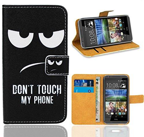 HTC Desire 820 Handy Tasche, FoneExpert Wallet Hülle Flip Cover Hüllen Etui Ledertasche Lederhülle Premium Schutzhülle für HTC Desire 820