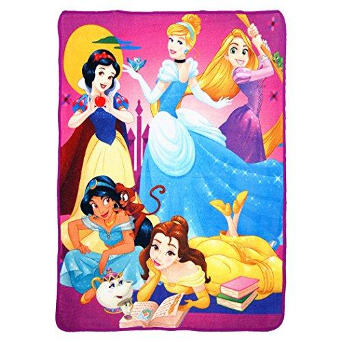 Disney's Princesses, 'Trust Your Heart' Micro Raschel Throw Blanket, 46' x 60', Multi Color